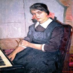Н. Калмыков  Урок музыки 1953 г