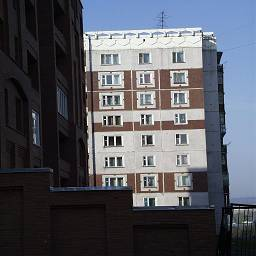 типовой фасад 9-ти этажки Новокузнецк