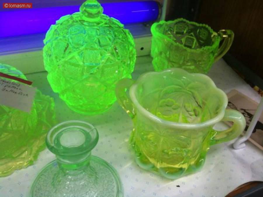 Урановое стекло: украшения, посуда, пуговицы Минералы, камни, руды