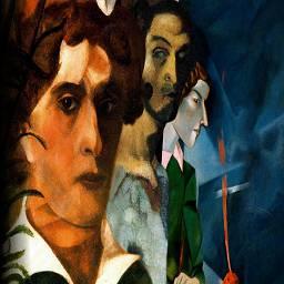 Выражение мироощущения через два самостоятельных и параллельных изобразительных потока  и колористический  главное достижение Марка Шагала в искусстве.