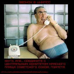 Звонок в цккпсс    Кх-гх, Але... Соедините с центральным комитетом красного плаща советского союза, пжалста.