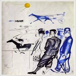 1928 Пименов Юрий Иванович (Россия, 1903-1977) «Бега»