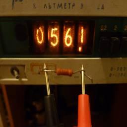 Измерение сопротивления 56ком