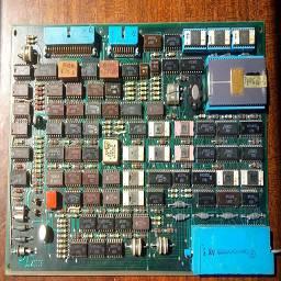 """НМД2 - контроллер жёсткого диска от ЭВМ МС 0585 (Электроника 85) - советский PDP-11-совместимый компьютер, клон DEC PRO 350. Выпускался в г. Воронеже на заводе """"Процессор"""". 512Кб ОЗУ, дисплей в минимальной конфигурации монохромный, в максимальной - цветной. Оснащался весьма дружественной к пользователю операционной системой ПРОС."""