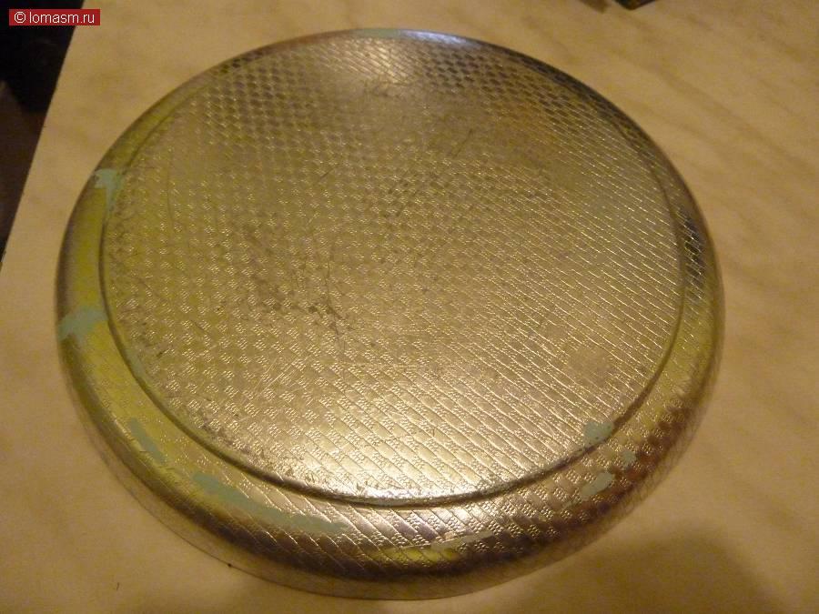Тарелка - блюдо, аллюминиевая с гравировкой кремль - Москва